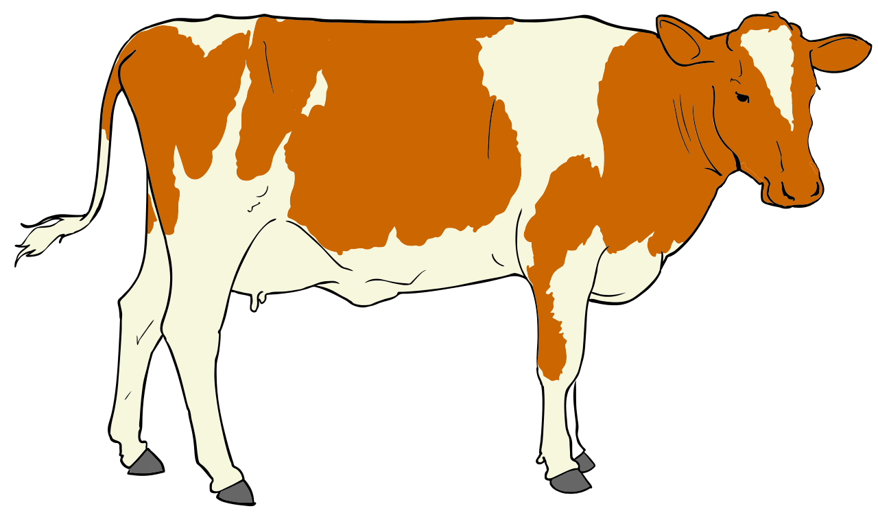 clip art black and white Cow clipart. File svg wikimedia commons