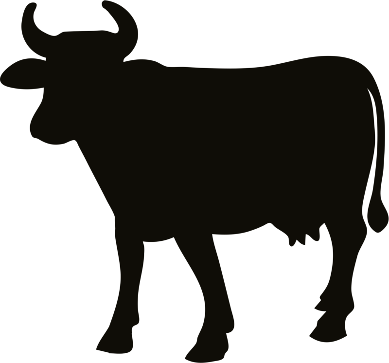 png black and white stock Free images download silhouette. Cow clipart black and white