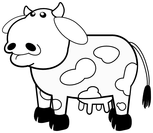 jpg black and white library Panda free images clip. Cow face clipart black and white