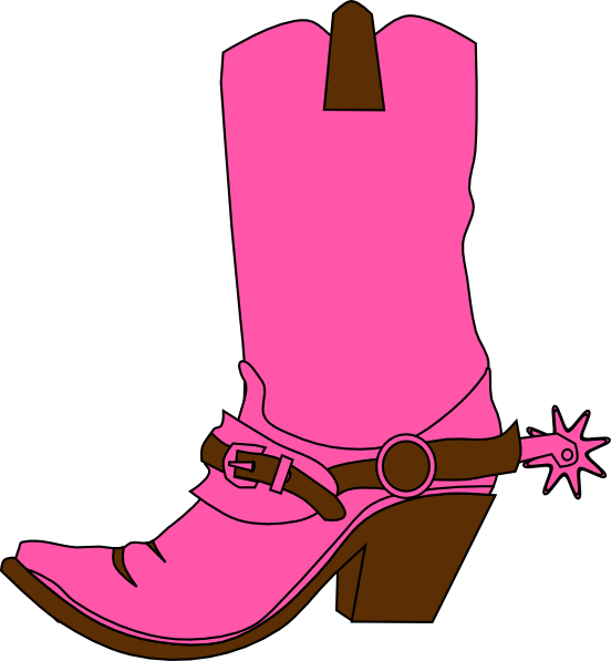 picture black and white stock Cowgirl Hat And Boot Clip Art at Clker