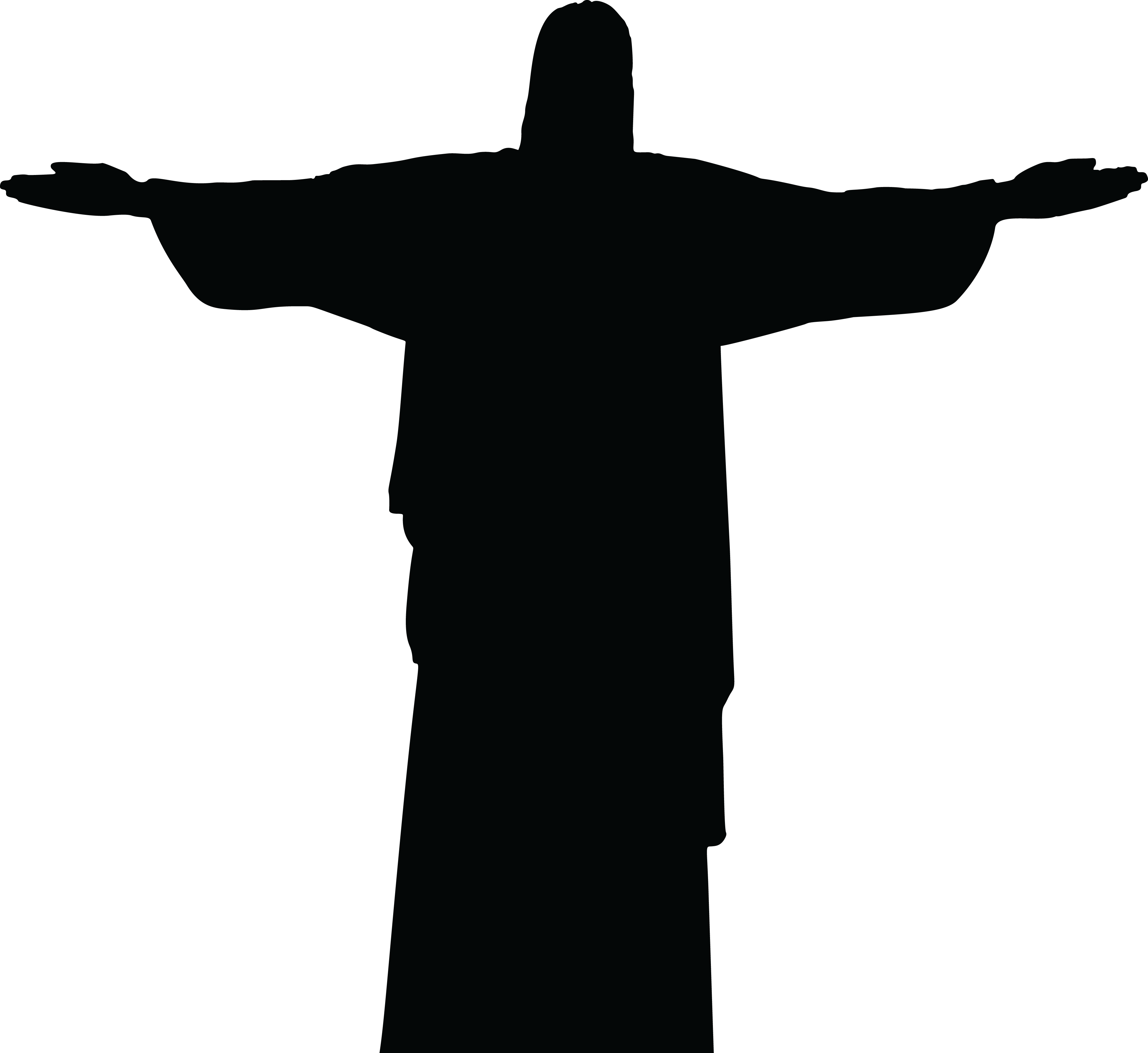 image free Christian cross clipart black and white. Jesus carrying silhouette at