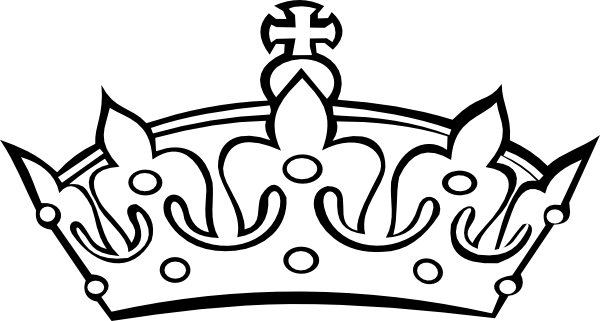 clip free library Banners drawing crown. Princess clipart black and