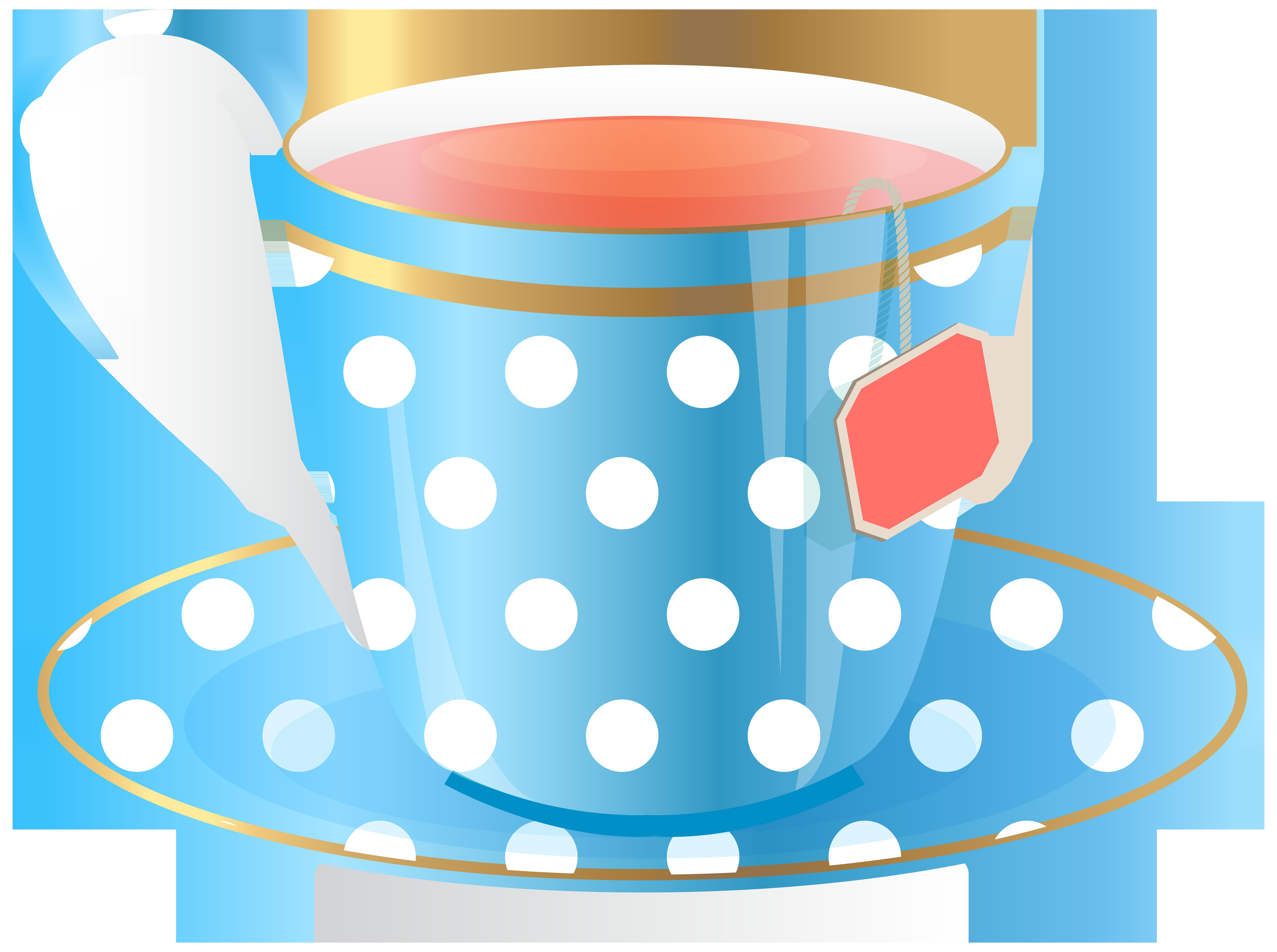 clip freeuse Blue Tea Cup PNG Transparent Clip Art Image