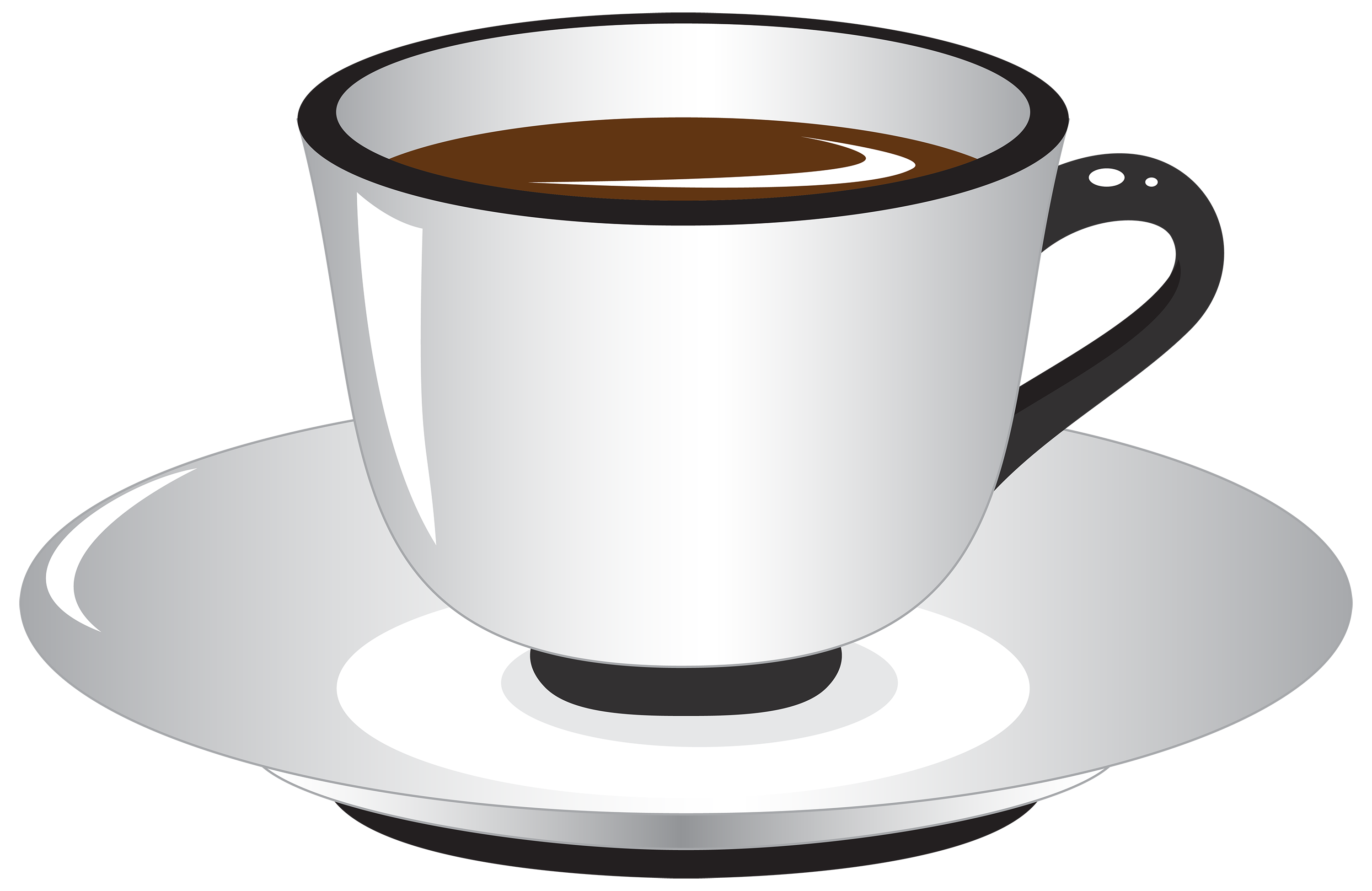 svg black and white library White and Black Coffee Cup PNG Clipart