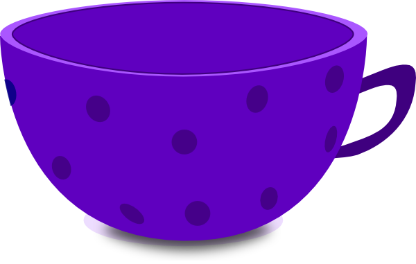 image freeuse stock Purple Tea Cup Clip Art at Clker
