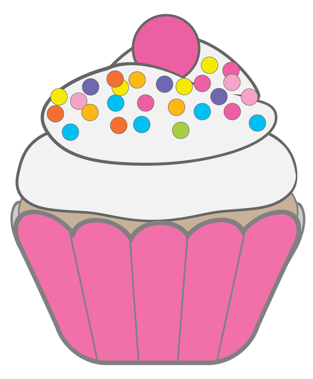vector royalty free stock Cute cupcake clip art