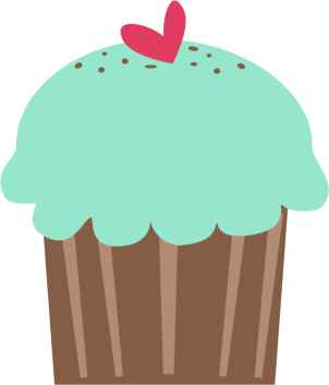 svg royalty free library Cupcake clipart. Clip art images green