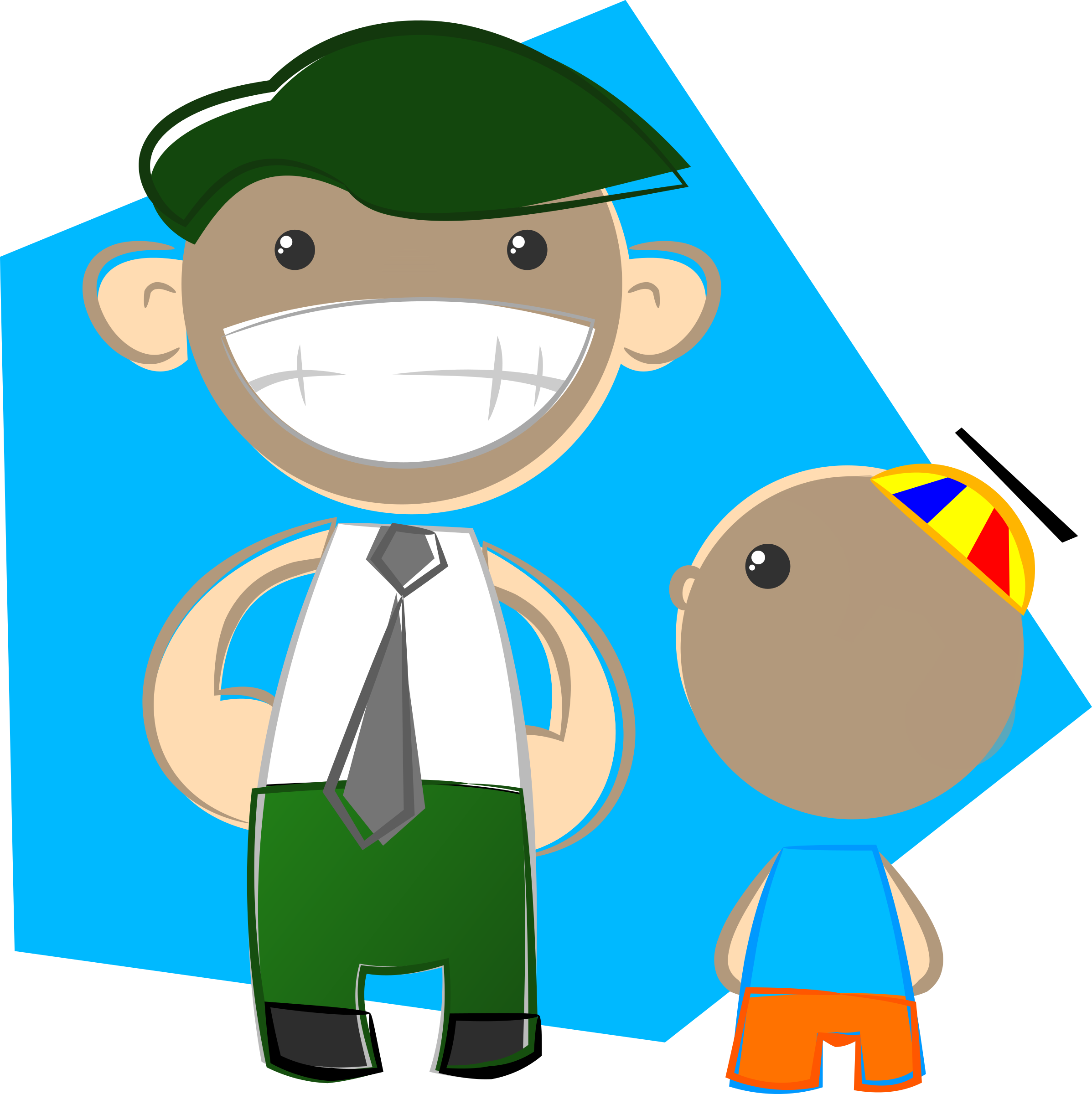 clip art library stock Clipart dad. And son big image