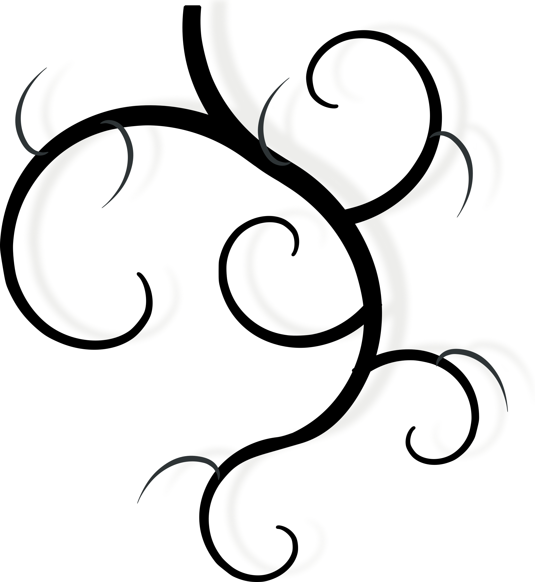 vector library stock Swirl drawing. Clipart design element big