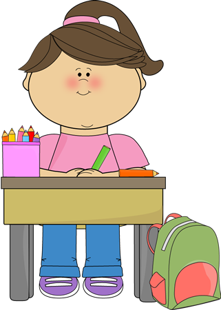 graphic transparent School kid clipart. Doing work clip art