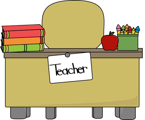banner transparent Desk vector. Teachers clipart .