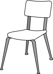 clipart royalty free stock Chair Clipart Black And White Clipart Panda Free Clear Acrylic Desk