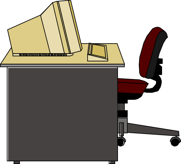 clipart freeuse library Computer clip art at. Desk vector