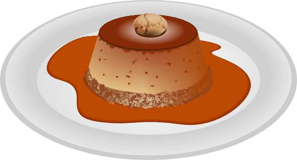 graphic free stock Caramel Dessert Clip Art at Clker