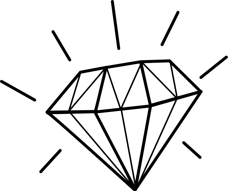 picture library download Diamond Clipart Black And White