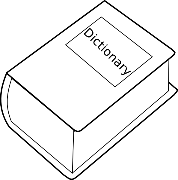 vector library library Dictionary Clip Art at Clker