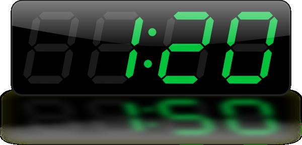 banner library Digital Clock Clip Art at Clker