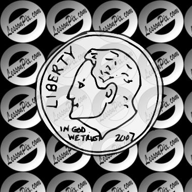 clip art transparent stock Dime clipart dime coin