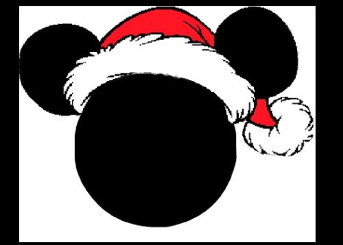 clip art free download Mickey Santa Hat Clipart