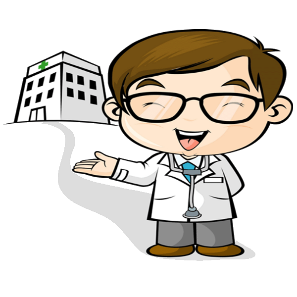 vector free library Funny Doctor Cartoon Clipart