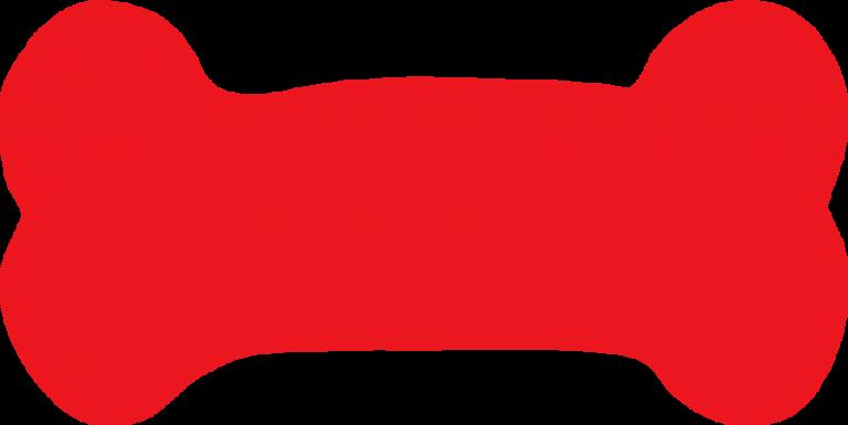 vector free Bone clip art clipart. Bones vector red dog