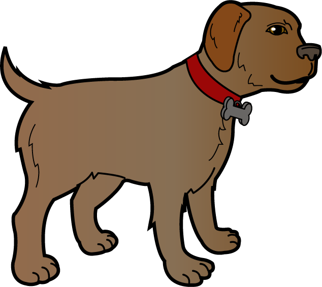 banner library stock Brown clipart doggie. Free dog cliparts download