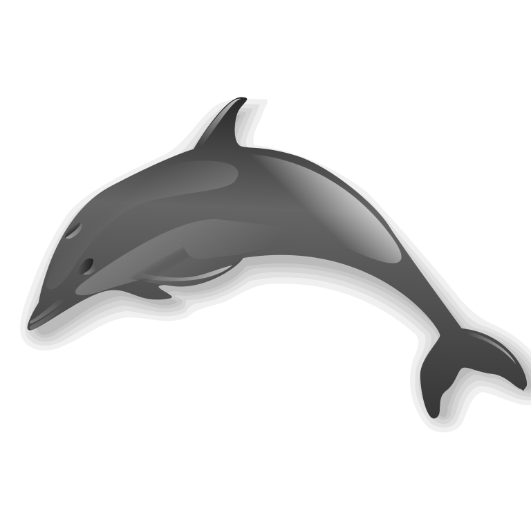 image black and white download File dolphin svg wikimedia. Dolphins clipart