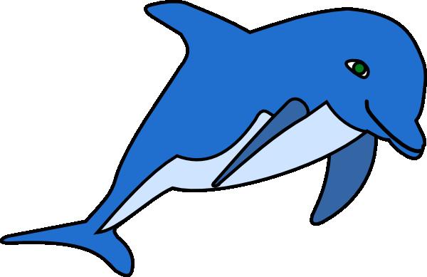 vector royalty free Free Cartoon Dolphin Clipart
