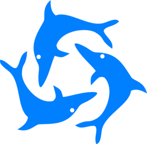 clip free download Jumping Dolphins clip art