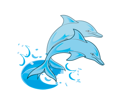 jpg black and white library Clipart clipartaz free collection. Vector dolphin sad cartoon