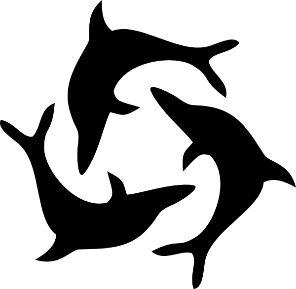 image transparent download Vector dolphin black and white. Triad clip art clipart