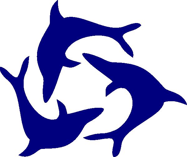 clip freeuse Vector dolphin coat arm. Inside jump clip art