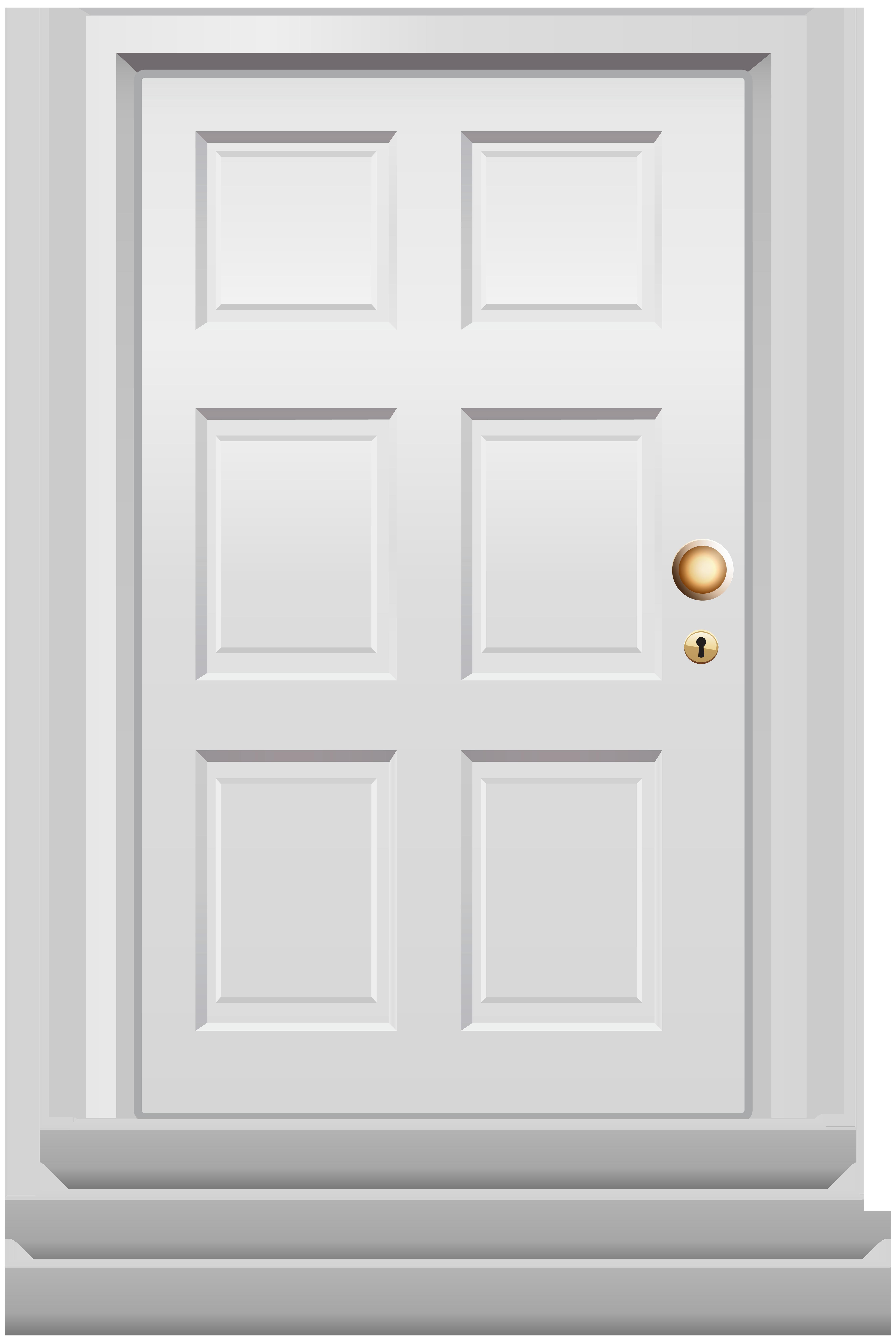 banner download Front white png clip. Door clipart.