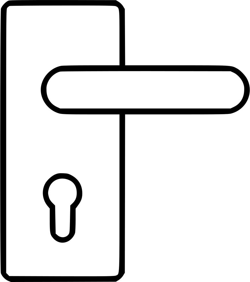 png library stock Bolt clip door. Locksmith lock doorknob svg