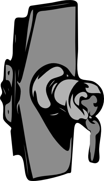 picture transparent stock Door black and white clipart. Knob lock