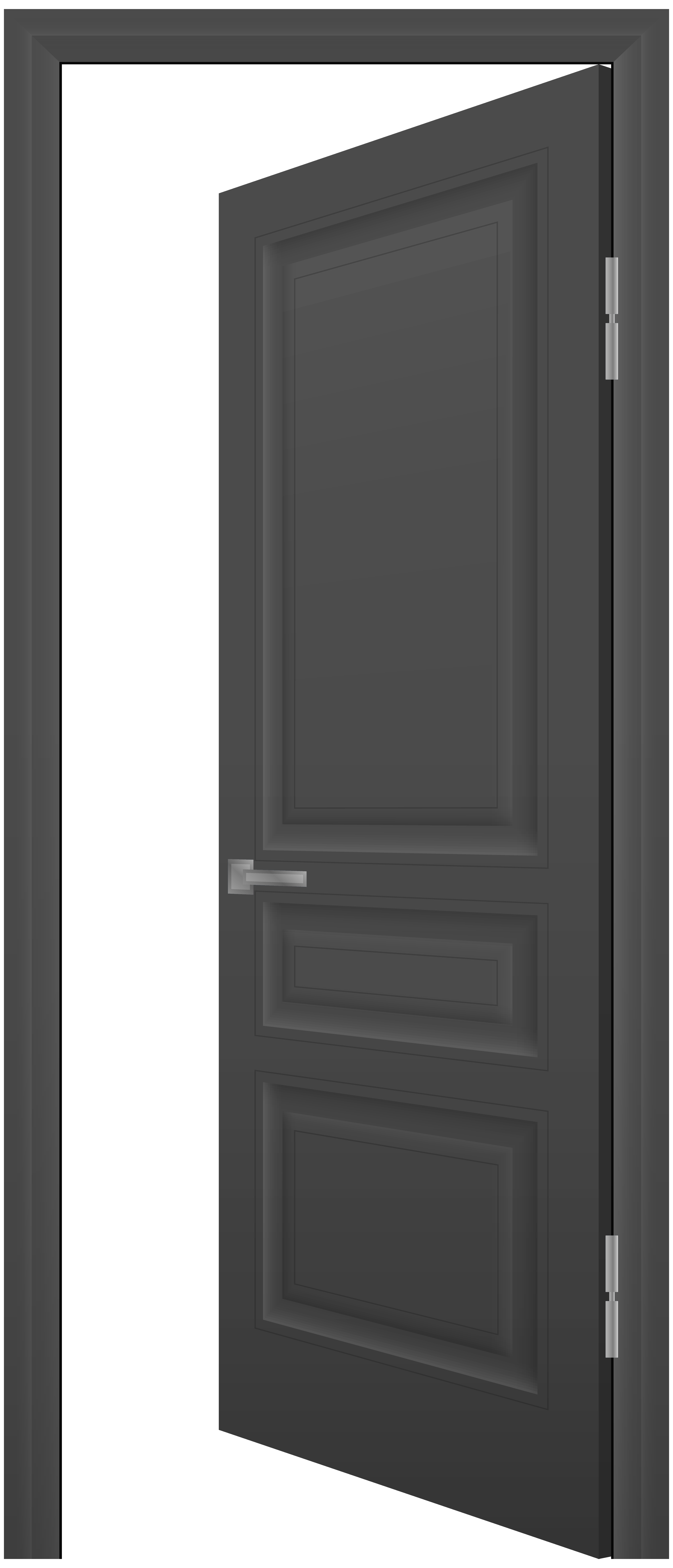 image royalty free library Door transparent. Open grey png clip