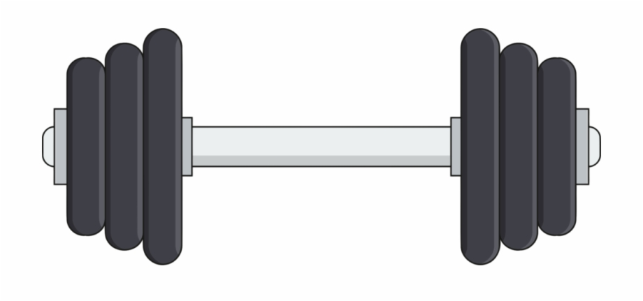 svg royalty free library Kisscc dumbbell olympic weightlifting. Barbell clipart weight training