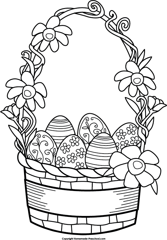 transparent library Free Easter Basket Clipart