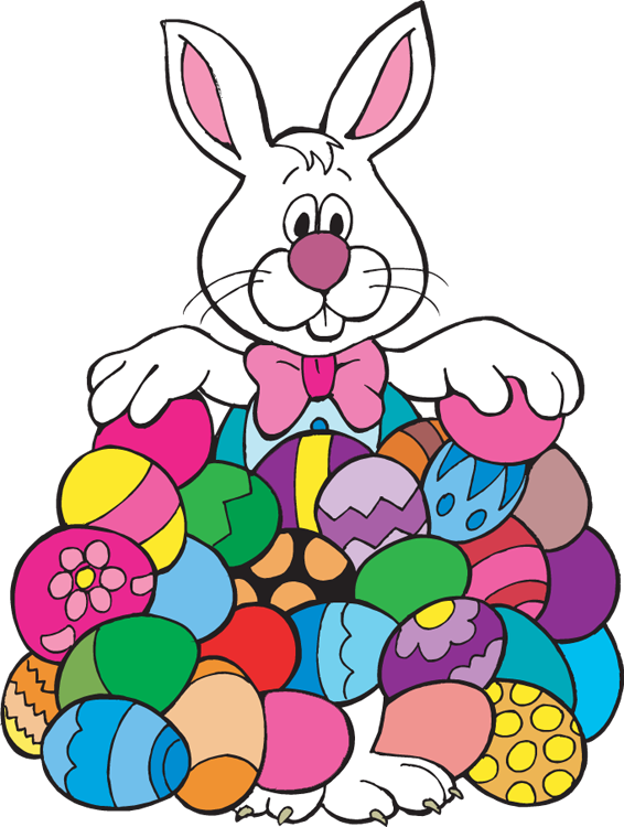 png transparent download Easter Bunny With Eggs Clipart