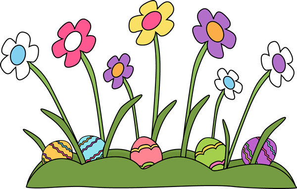 jpg free library Easter clipart borders. Eggs hidden in the
