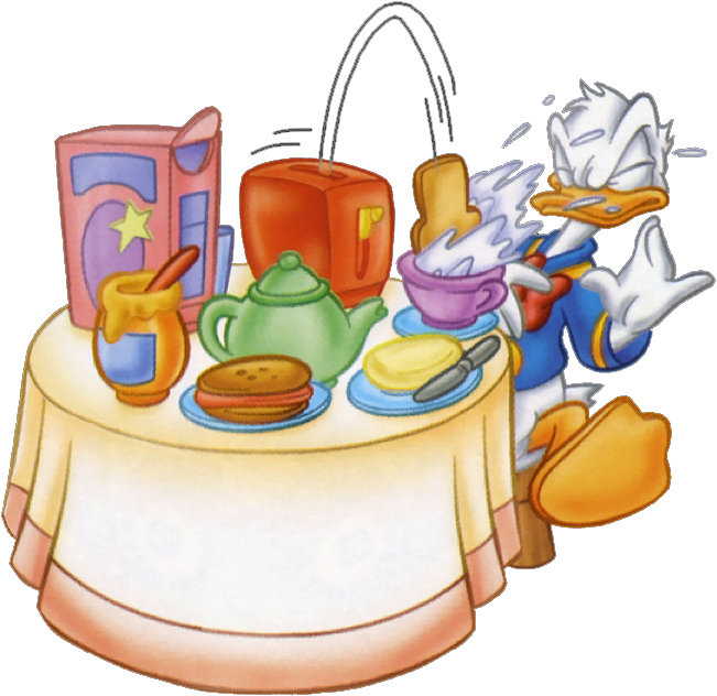 banner library library Donald Eat Breakfast