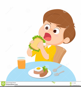 jpg royalty free library Kid free images at. Clipart eating breakfast