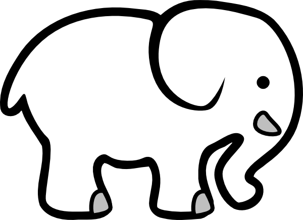 graphic freeuse library White elephant clip art. Elephants clipart.