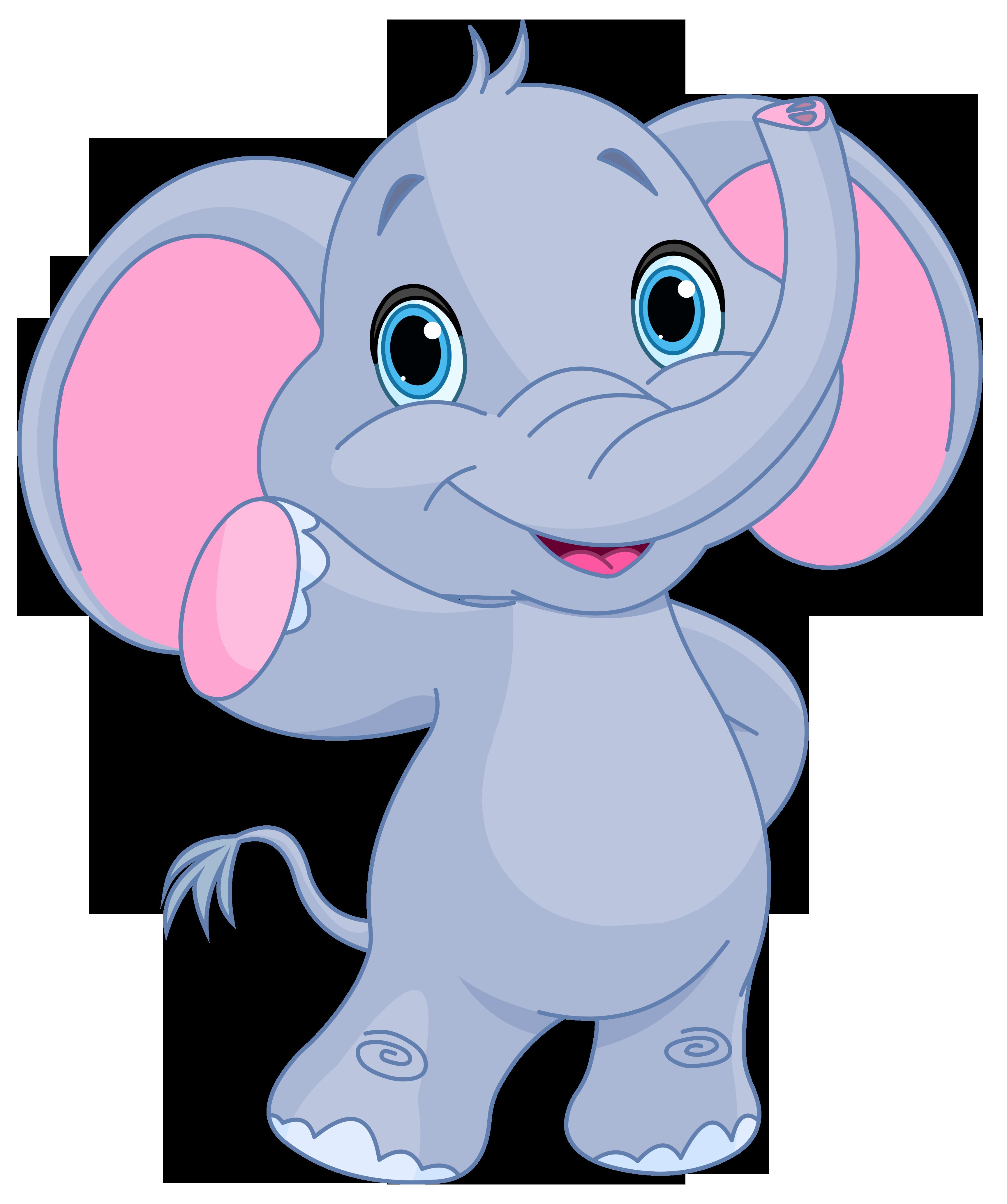 clip art free stock Cute elephant clipart image