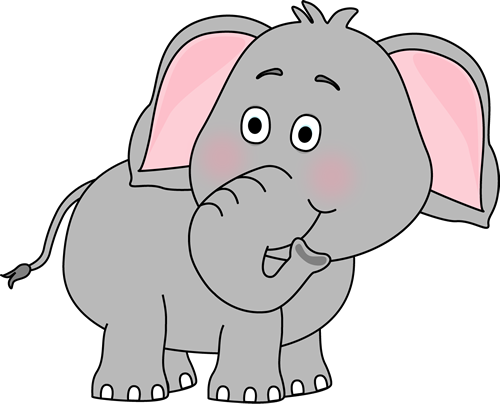 clip art freeuse download Cute Baby Elephant Clip Art