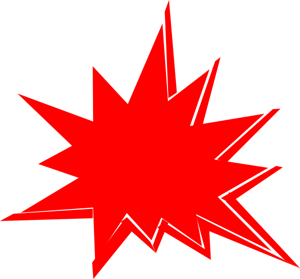 picture stock Red art at clker. Explosion clip.
