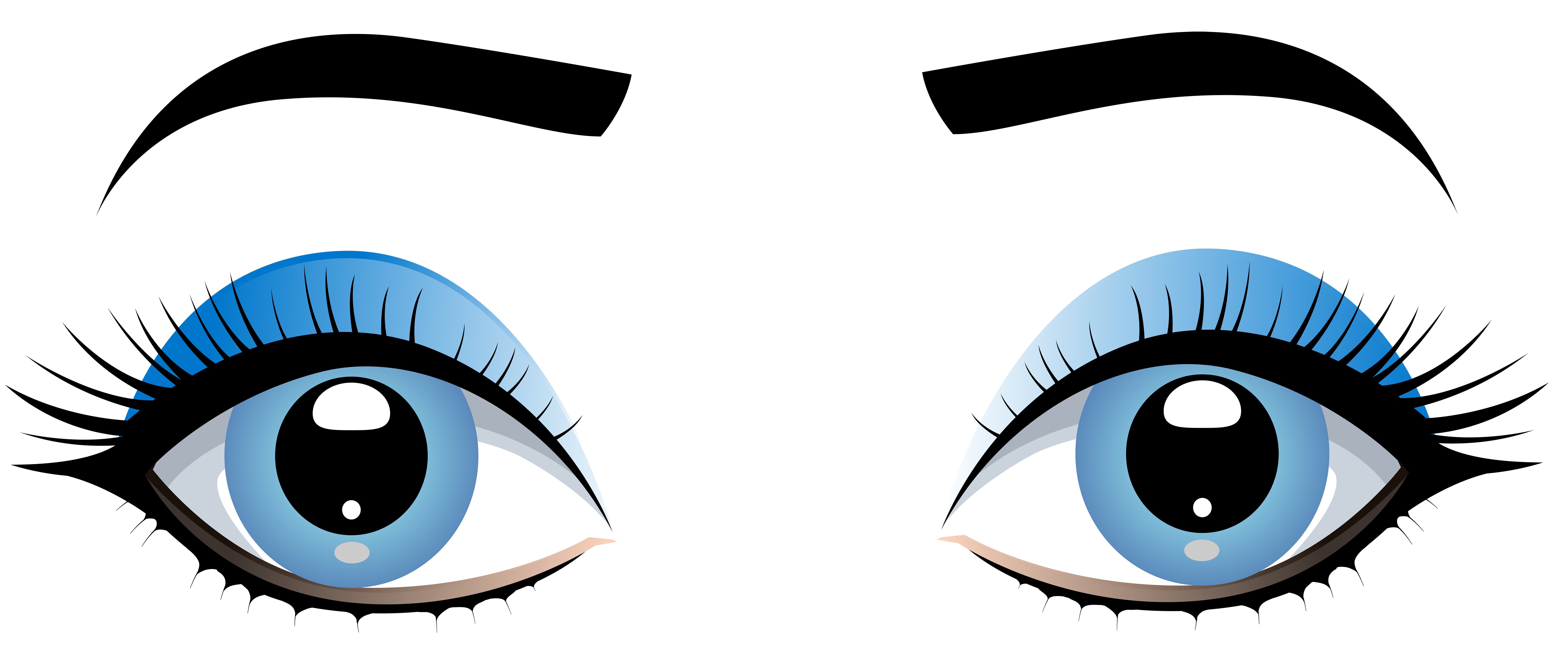 banner download Blue Female Eyes with Eyebrows PNG Clip Art