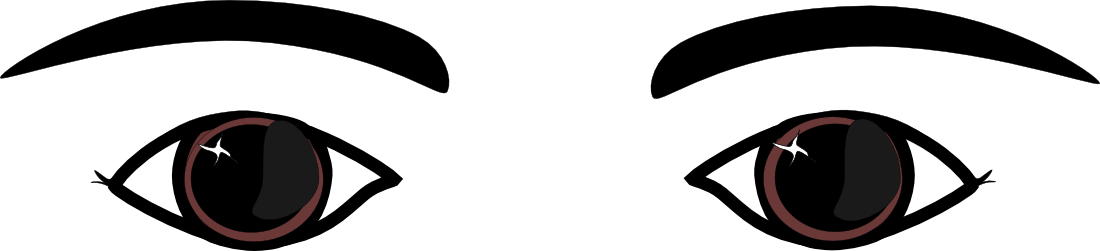 clipart royalty free download Eyeballs clipart. Free brown eyes download