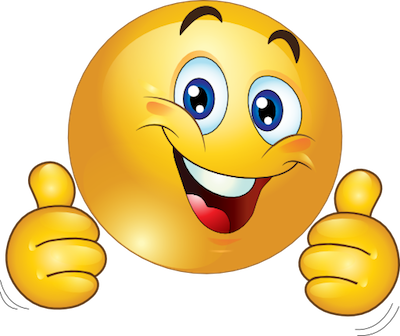 png stock Being kind clipart. Thumbs up smiley face