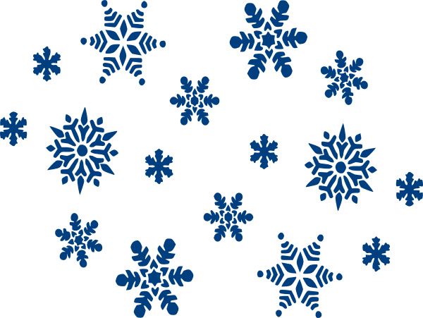 banner library library Falling Snowflake Clipart